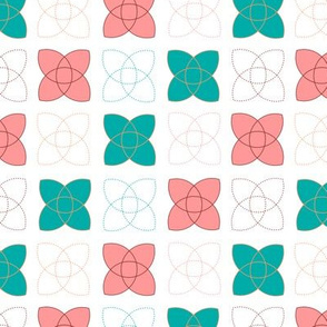 Atom Duo - in coral and teal