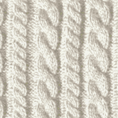 Knitting in cream