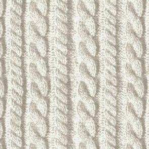 Knitting in cream