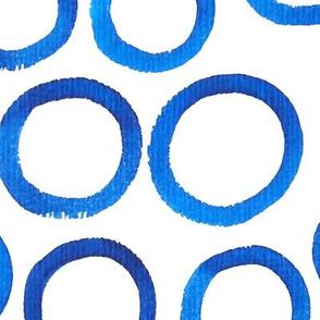 Large Blue Watercolor Circles