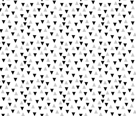 Random Triangles Black and Grey fabric by mspiggydesign on Spoonflower - custom fabric