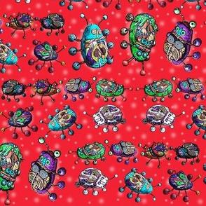 BEETLE MANIA red ladybug scarab