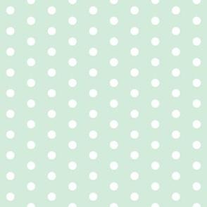 minty blue polka dots