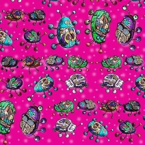 BEETLE MANIA fushia pink ladybug scarab