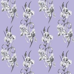 lilac & grey half drop