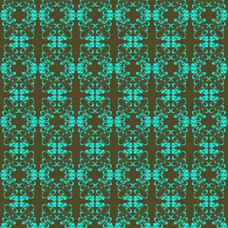 Crochet Lace Aqua Crosses fabric by eve_catt_art on Spoonflower - custom fabric