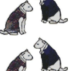 dogs cross stitch
