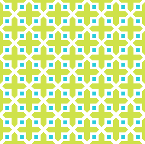 Cross Section Pattern Lime and Turquoise fabric by jannasalak on Spoonflower - custom fabric