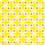 Cross Section Pattern Yellow and Pink