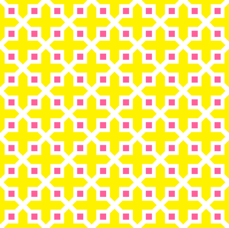 Cross Section Pattern Yellow and Pink fabric by jannasalak on Spoonflower - custom fabric