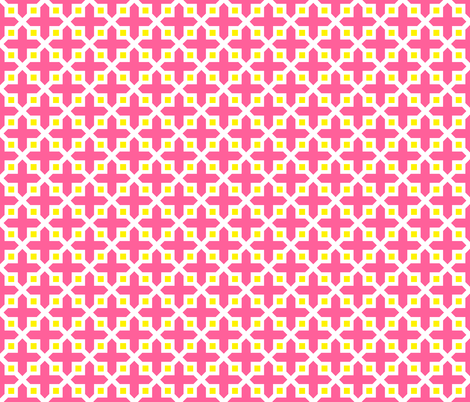 Cross Section Pattern Pink and Yellow fabric by jannasalak on Spoonflower - custom fabric