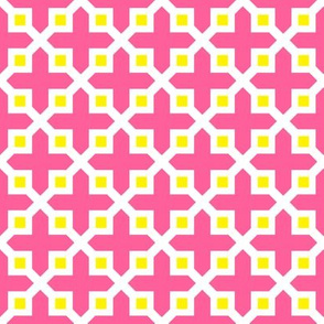 Cross Section Pattern Pink and Yellow