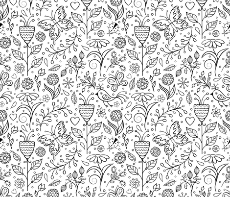 summer pattern fabric by kiyanochka on Spoonflower - custom fabric