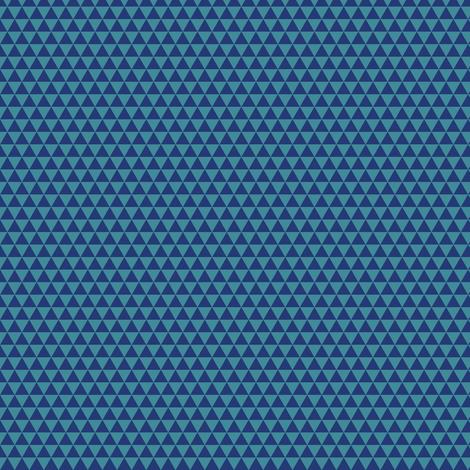 Space Triangles - Blue fabric by siya on Spoonflower - custom fabric