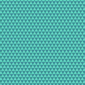 Space Triangles - Teal
