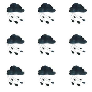 Black and White Raincloud