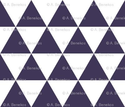 Space Triangles - White + Midnight Purple