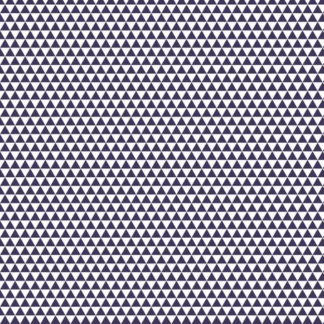 Space Triangles - White + Midnight Purple fabric by siya on Spoonflower - custom fabric