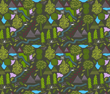 hiking_the_trail fabric by jeannemcgee on Spoonflower - custom fabric