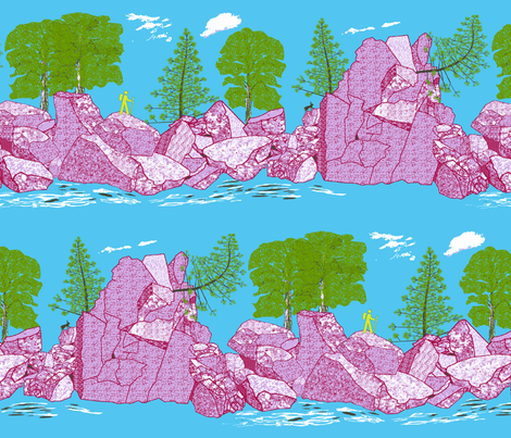 Devil's Lake State Park fabric by mophead on Spoonflower - custom fabric