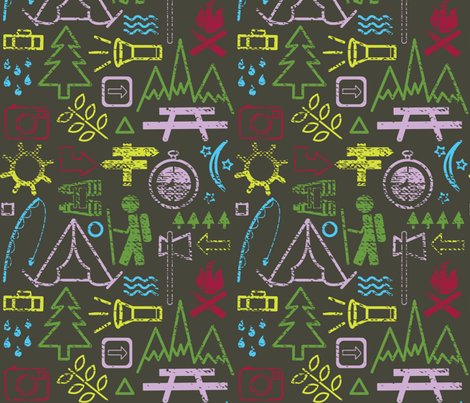 Follow the Trail fabric by jenflorentine on Spoonflower - custom fabric