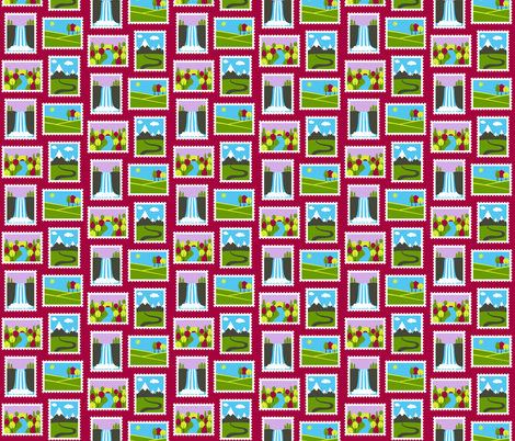 Hiking Scenery fabric by alenkas on Spoonflower - custom fabric