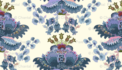 Crewel Damask Blue