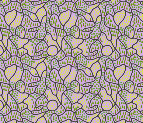 Through shady groves and sunny meadows fabric by mongiesama on Spoonflower - custom fabric