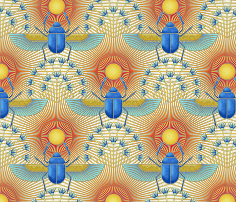 Scarab of Ra fabric by analinea on Spoonflower - custom fabric