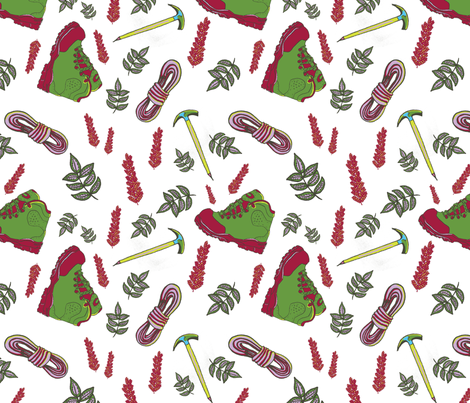 hiking fabric by paperondesign on Spoonflower - custom fabric