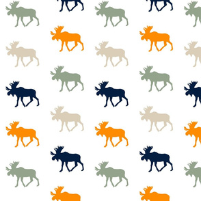 Multi Moose // Navy/Orange/Sage/Tan