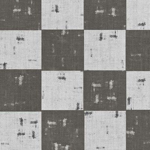 Field, checkered - charcoal, grey
