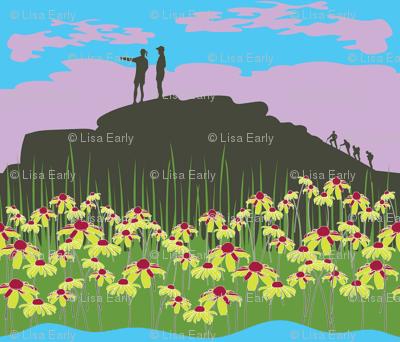 Mountain Hike with Wildflowers