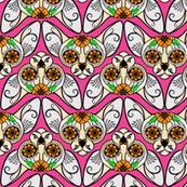 Pink Sugar Skull Sphynx Cat CHEVRONS
