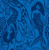 Mermaid navy blue