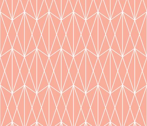 Diamond Grid - Coral fabric by kimsa on Spoonflower - custom fabric