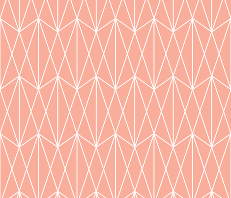 Diamond Grid - Coral fabric by kimsa on Spoonflower - custom fabric