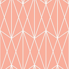 Diamond Grid - Coral