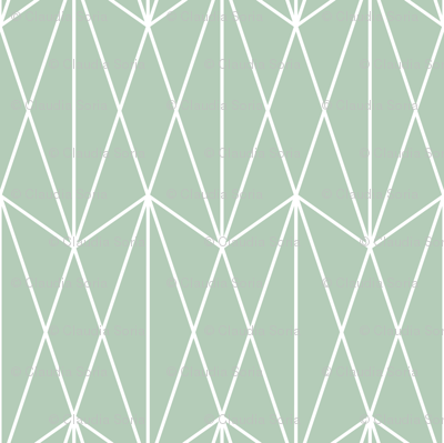 Diamond Grid - Olive Green