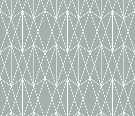 Diamond Grid - Teal Gray fabric by kimsa on Spoonflower - custom fabric