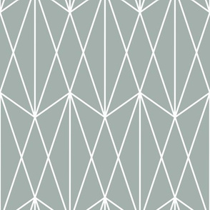 Diamond Grid - Teal Gray