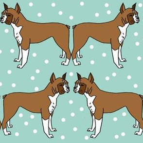 boxer dog // dog pet dog dog breed mint cute dog illustration seamless hand drawn dog pattern