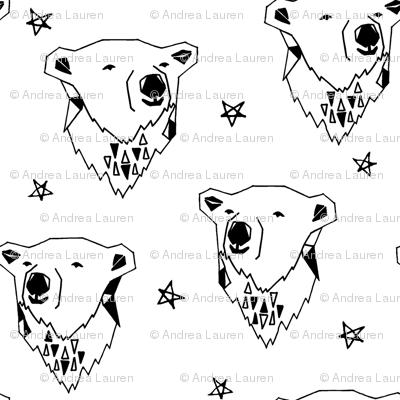 polar bear // polar bears cute nursery baby black and white scandi bears
