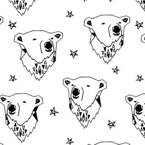 polar bear // polar bears cute nursery baby black and white scandi bears