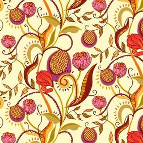 floral walk - beige