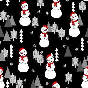 Snowman - Black by Andrea Lauren