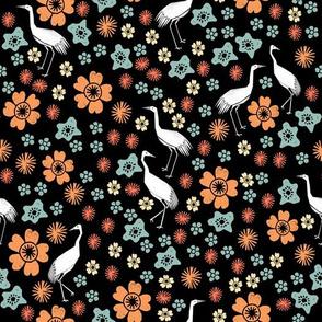Crane Blossoms - Peach by Andrea Lauren