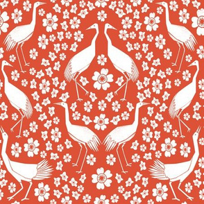Cranes - Red/White by Andrea Lauren