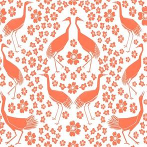 Cranes - White/Peach by Andrea Lauren