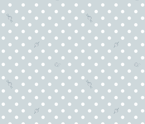 Polka-Dot Yarn fabric by knatalie_meredith on Spoonflower - custom fabric